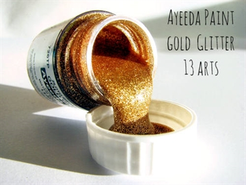 Happymade - 13arts - Glitter Paint - Gold Glitter (22ml).